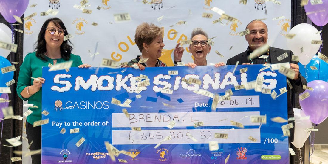 Smoke Signals cheque presentation